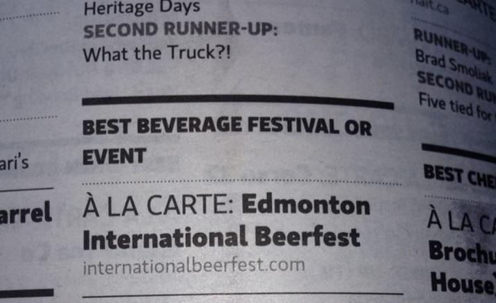 BeerFest Wins a Golden Fork Award